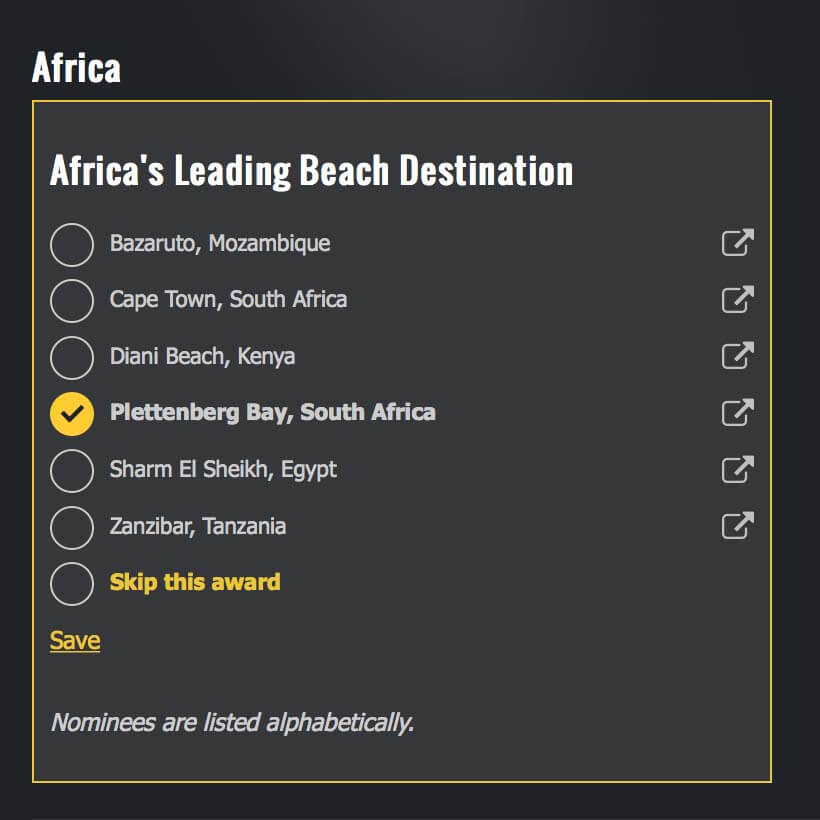 Africas Leading Beach Destination