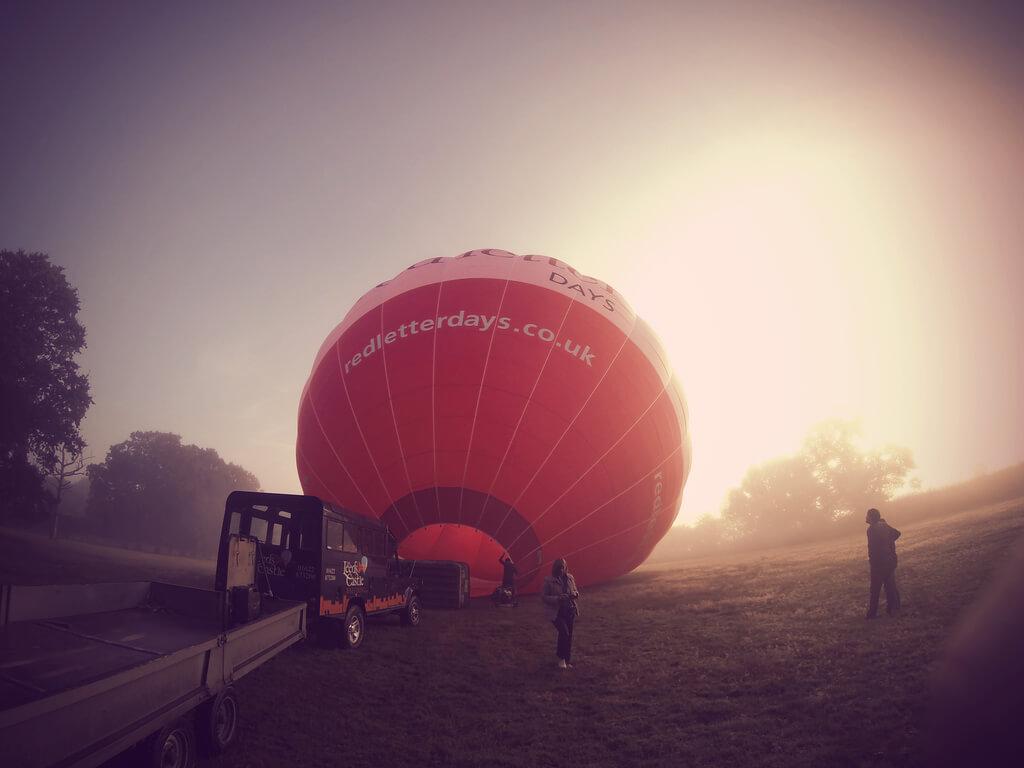 Putting Up Hot Air Balloons